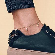 Золотой браслет на ногу Изобилие