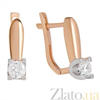 Серьги из красного золота с фианитами Подарок милой SVA--2190955112/Фианит/Цирконий