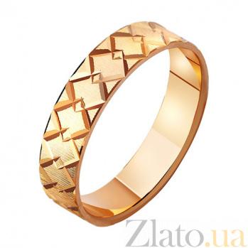 Золотое обручальное кольцо Истинное чувство TRF--411144