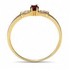 Золотое кольцо Секреты султана с рубином и фианитами