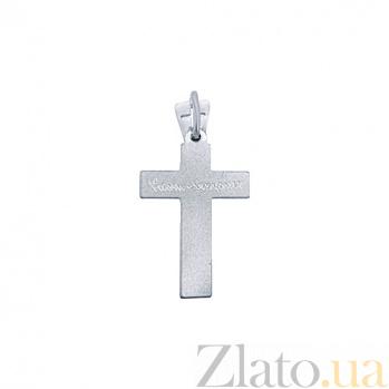 Серебряный крест родированный Светлое воскресенье AQA-3543-б