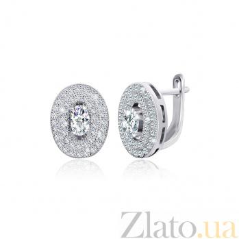 Серебряные серьги с цирконием Эвита SLX--СК2Ф/433