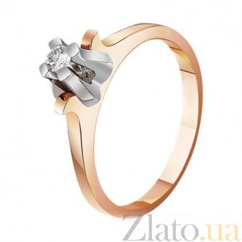 Золотое кольцо с бриллиантом  Абсолютная элегантность EDM-КД7450