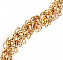 Золотая цепь в красном золоте Виктория