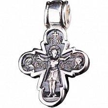Крестик из серебра Проповедники с чернением