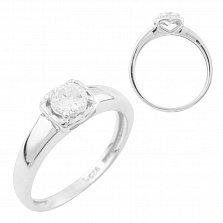 Кольцо из серебра Любава с цирконием