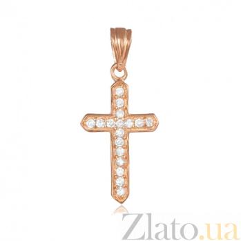 Серебряный крестик с фианитами Фелиция 000028698
