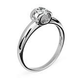 Золотое кольцо с бриллиантом Идиллия