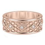 Обручальное кольцо из розового золота с бриллиантами Благословение небес: Сияние души