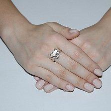 Серебряное кольцо с фианитами Герда