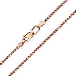 Цепь из красного золота в плетении колосок, 1,5мм 000104307