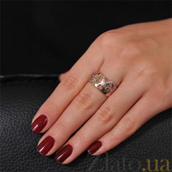 Золотое кольцо с сердечками Любовь EDM--КД0353