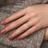 Серебряное кольцо New Stripe с фианитами
