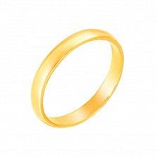 Обручальное кольцо из желтого золота Счастливый союз