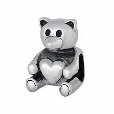 Серебряный подвес - шарм Медвежонок