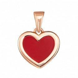 Кулон из красного золота с красной эмалью 000133334