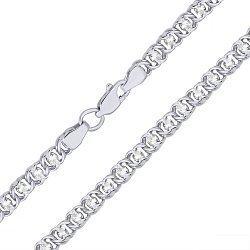 Серебряная цепочка-колье с белыми фианитами 000039018