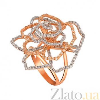 Кольцо из красного золота Эустома с фианитами VLT--ТТТ1109-2