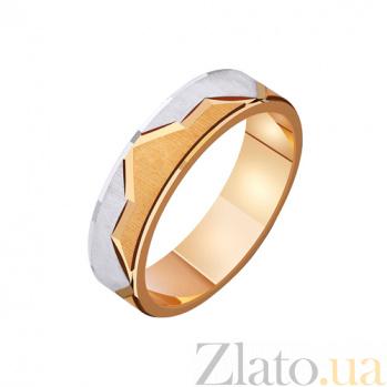 Золотое обручальное кольцо Вечная любовь в комбинированном цвете металла TRF--411203