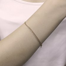 Золотой браслет Нонна с алмазной гранью, 3мм