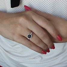 Кольцо Финляндия из белого золота с бриллиантами
