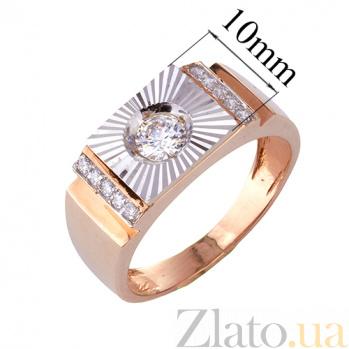 Золотое кольцо-печатка с фианитами Оливер ONX--к00898