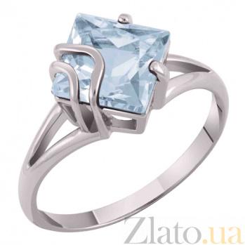 Золотое кольцо Модерн с голубым топазом SVA--1104542/Топаз голубой