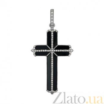 Крест из белого золота Закон Божий VLT--ТТ3386