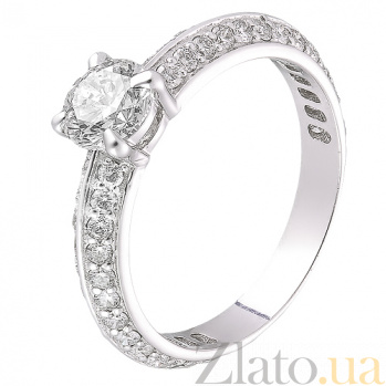 Кольцо из белого золота с бриллиантами Селена R 0358