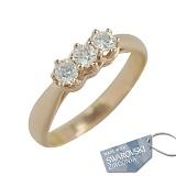 Золотое кольцо с кристаллами Swarovski Велма