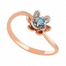 Золотое кольцо с голубым топазом Лайл