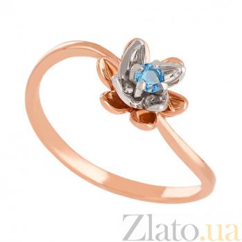 Золотое кольцо с голубым топазом Лайл VLN--112-1597-1