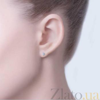 Серьги-гвоздики серебряные с цирконием Блеск AQA-2333