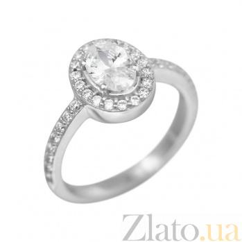 Серебряное кольцо Марсия с фианитами 000081526