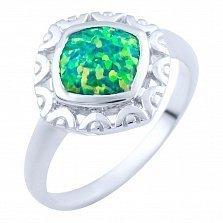 Серебряное кольцо Гиацинта с опалом