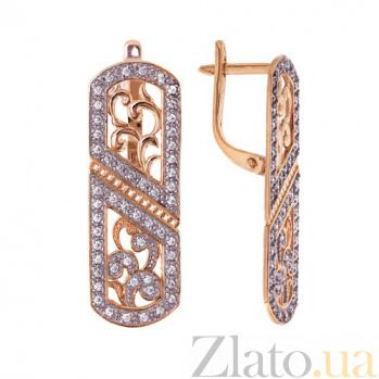 Золотые серьги Марлен TNG--420712