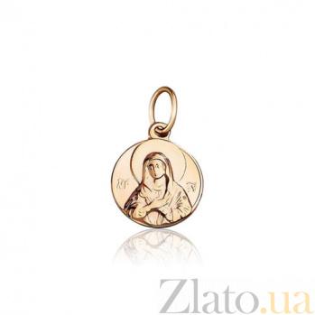 Ладанка Мария из красного золота  EDM--П0153