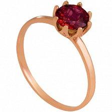 Золотое кольцо Саманта с гранатом