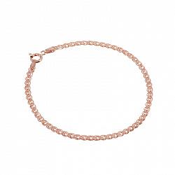 Серебряный браслет Ричмонд с позолотой, 3 мм