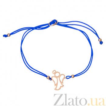 Шелковый браслет Ярина в красном золоте 000045145