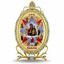 Серебряная икона с образом Богородицы Неопалимая Купина