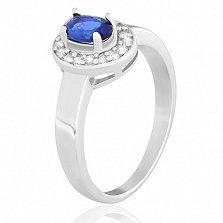 Серебряное кольцо с фианитами Меллони