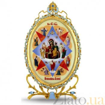 Серебряная икона с образом Богородицы Неопалимая Купина 2.78.0309