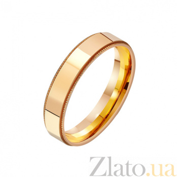 Золотое обручальное кольцо Верность любви TRF--411207