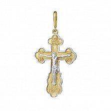 Серебряный крест Всепрощение с позолотой
