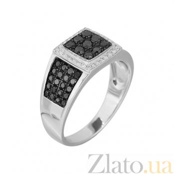 Золотое кольцо с черными бриллиантами Магнетизм 000027290