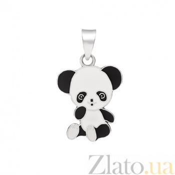 Серебряный кулон Панда с эмалью 000032563