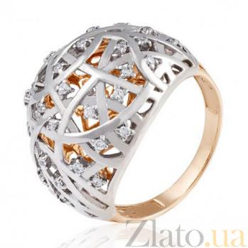 Золотое кольцо с цирконием Драгоценная сфера EDM--КД0467