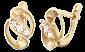 Позолоченные серьги из серебра с фианитами Орли SLX--С3Ф/018