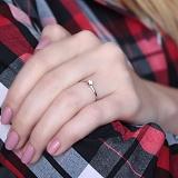 Помолвочное серебряное кольцо Нежность с фианитом